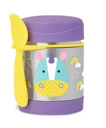 Skip hop Insulated Food Jar and Spork Set Unicorn - Purple