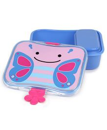 Skihop Lunch Kit Feeding Set Blossom Butterfly - Blue