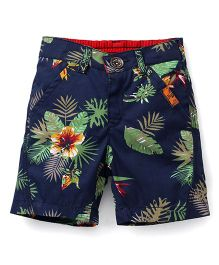Little Kangaroos Floral Shorts - Navy