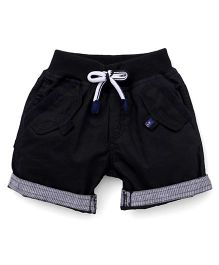 Little Kangaroos Turn Up Shorts - Black