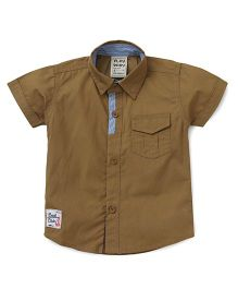 Little Kangaroos Short Sleeves Shirt - Brown