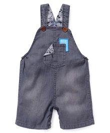 Little Kangaroos Dungarees Style Romper - Grey