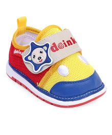Doink Casual Shoes Star Applique - Blue Yellow