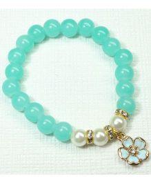 Asthetika Flower Pearl Bracelet - Blue