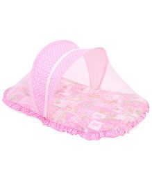 Mee Mee Mattress Set With Mosquito Net Multi Print - Pink