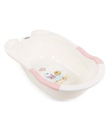 Baby Bath Tub With Print - Cream Pink