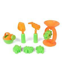 Playmate Beach Toys Set Orange & Green - 7 Pieces