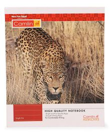 Camlin Small Single Line Notebook Soft Cover Tiger Print - 164 Pages