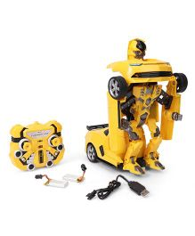 Turboz Changing Robot Cum Car Yellow - 25.5 cm