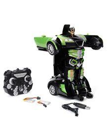 Turboz Changing Robot Cum Car Green - 25.5 cm
