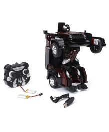Turboz Remote Control Changing Robot Cum Car - Brown