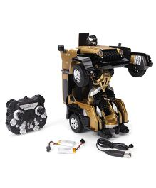 Turboz Changing Robot Cum Car Golden - 25.5 cm