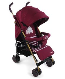 Lightweight Stroller With Mosquito Net -  Wine