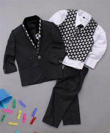 Adores 3 Piece Party Wear Set For Boys - Black