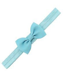 Angel Closet Small Bow Headband - Blue