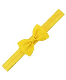 Angel Closet Small Bow Headband - Yellow