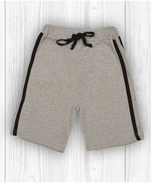 Pranava Striped Organic Cotton Shorts - Grey Melange