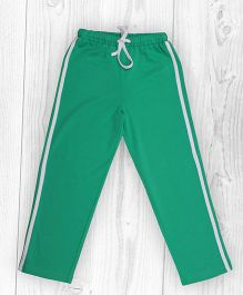 Pranava Verticle Stripe Organic Cotton Track Pants - Green