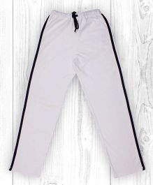 Pranava Verticle Stripe Organic Cotton Track Pants - White