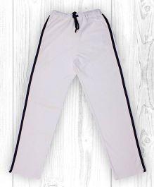 Pranava Verticle Stripe Organic Cotton Track Pants - White