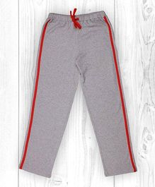 Pranava Verticle Stripe Organic Cotton Track Pants - Grey