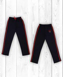 Pranava Stripe Oranic Cotton Track Pants - Navy Blue