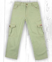 Pranava Multipocket Organic Cotton Cargo Pant - Light Green