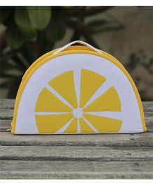 My Gift Booth Vanity Bag Lemon Design - Yellow