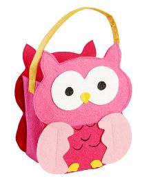 My First Booth Candy Bag Owl Design - Pink