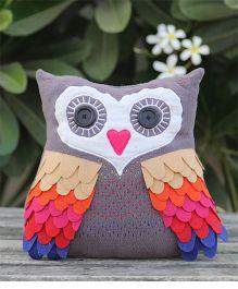 My Gift Booth Owl Shape Cushion  - Grey