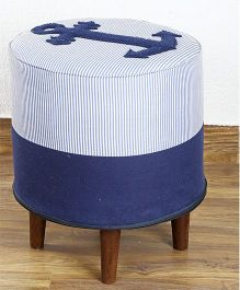My Gift Booth Anchor Patch Pouf - Blue Navy