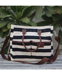 My Gift Booth Diaper Bag Stripe Design - Black White