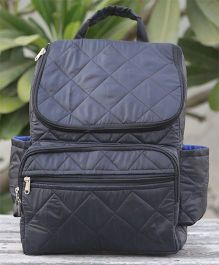 My Gift Booth Quilted Diaper Bag - Black