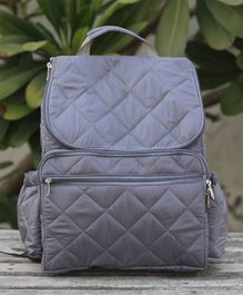 My Gift Booth Quilted Diaper Bag - Grey