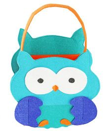 My First Booth Candy Bag Owl Design - Blue