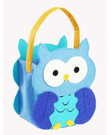 My First Booth Candy Bag Owl Design - Aqua Blue