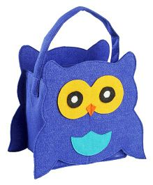 My First Booth Candy Bag Owl Design - Royal Blue