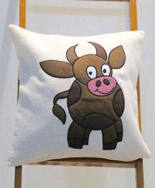 My Gift Booth Cushion Cover Cow Patch - White Brown