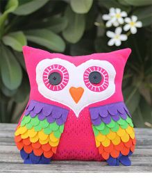 My Gift Booth Owl Shape Cushion  - Pink