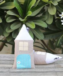 My Gift Booth Hut Shape Cushion Pack Of 2 - Grey Blue White