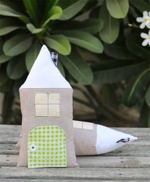 My Gift Booth Hut Shape Cushion Pack Of 2 - Grey Green White
