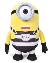 Minions Jail Stuart Soft Toy Yellow - Height 37 cm