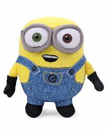 Minions Bob Plush Toy With Sound Yellow Blue - Height 13 cm