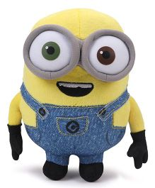 Minions Bob Plush Toy With Sound Blue Yellow - Height 20 cm