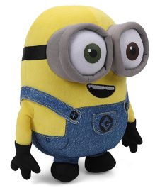 Minions Bob Plush Toy With Sound Blue Yellow - Height 30 cm