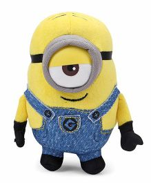 Minions Stuart Plush Toy With Sound Blue Yellow - Height 13 cm