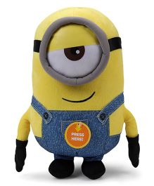 Minions Stuart Plush Toy With Sound Blue Yellow - Height 30 cm