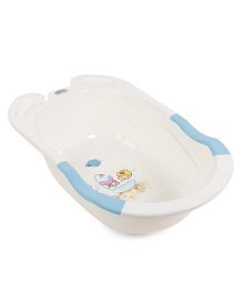 Baby Bath Tub With Print - Cream Blue