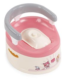 Printed Baby Potty Seat - Cream Pink