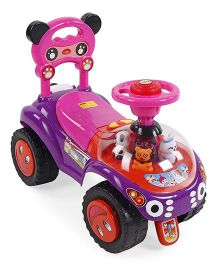 Musical Manual Push Ride On - Purple & Pink